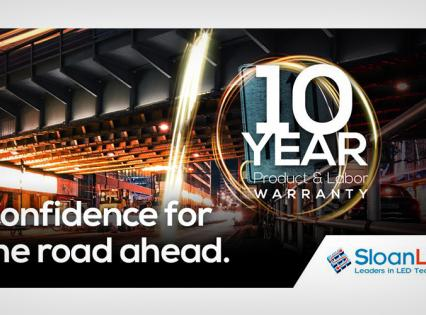 Visual Technologies - SloanLED 10 Year Parts and Labour Warranty